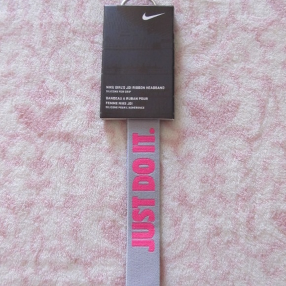 Nike Girl s JDI Ribbon Headband Just Do It NWT! 08bc4e441c2
